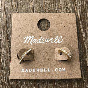 Madewell Sparkling Pavé Hoop Earrings